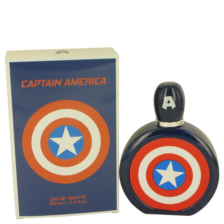 Captain America by Marvel 3.4 oz Eau De Toilette Spray for Men