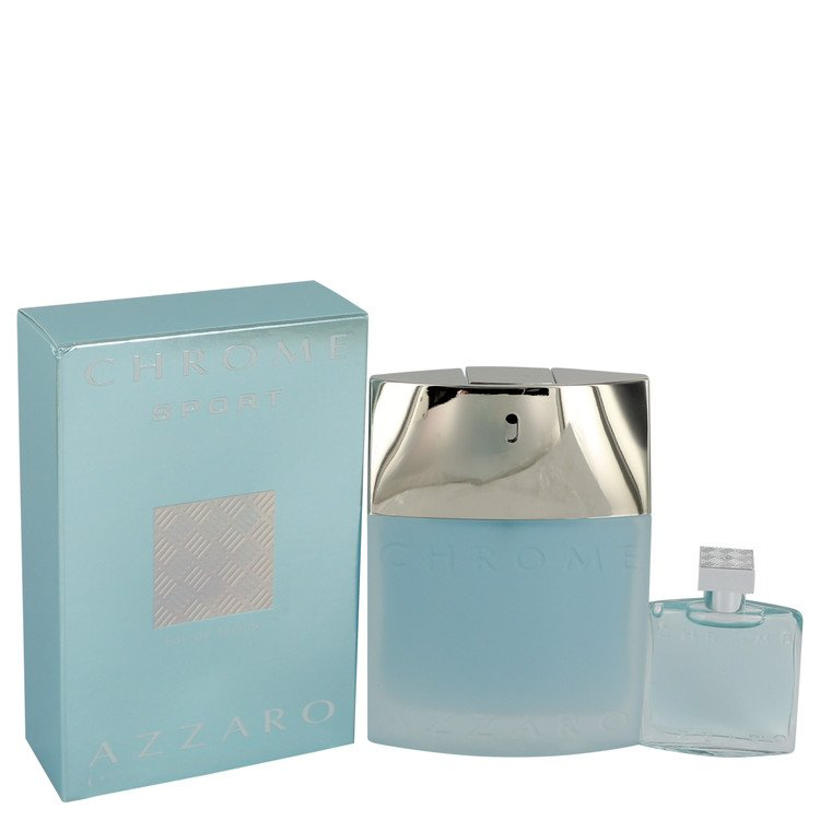 Chrome Sport by Azzaro 1.7 oz Eau De Toilette Spray with .23 oz Mini EDT bonus moved code for Men
