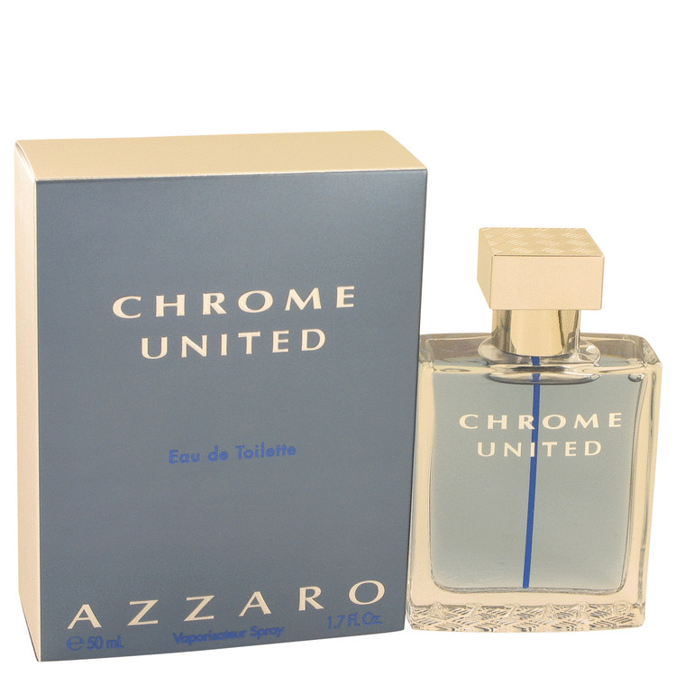 Chrome United by Azzaro Eau De Toilette Spray 1.7 oz for Men