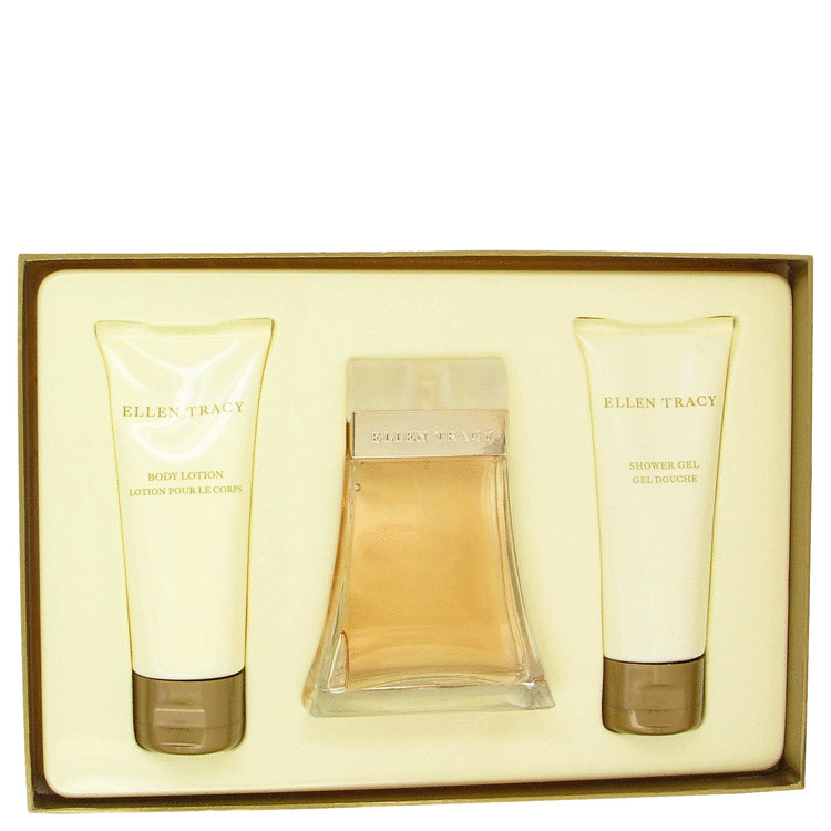 Ellen Tracy by Ellen Tracy 3.4 oz Eau De Parfum Spray + 3.4 oz Body Lotion + 3.4 oz Shower Gel for Women