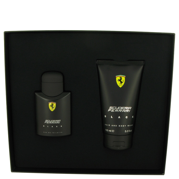 Ferrari Scuderia Black by Ferrari Gift Set -- 2.5 oz Eau De Toilette Spray + 5 oz Hair & Body Wash for Men