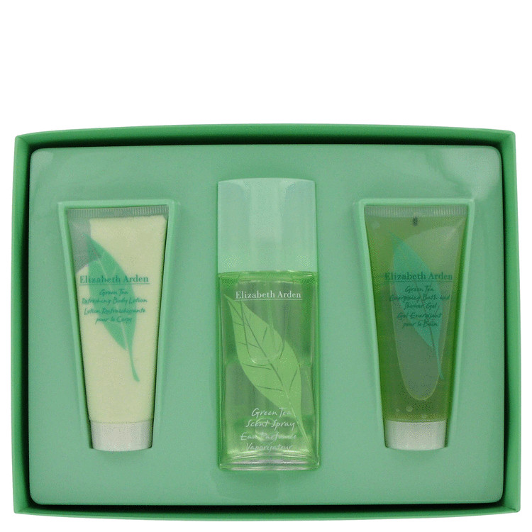 GREEN TEA by Elizabeth Arden Gift Set -- 3.3 oz Scent Spray + 3.3 oz Body Lotion + 3.3 oz Bath and Shower Gel for Women