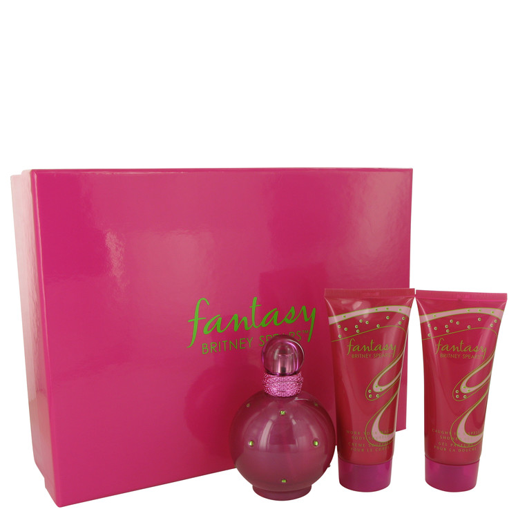 Fantasy by Britney Spears 3.3 oz Eau De Parfum Spray + 3.3 oz Body Lotion + 3.3 oz Shower Gel for Women