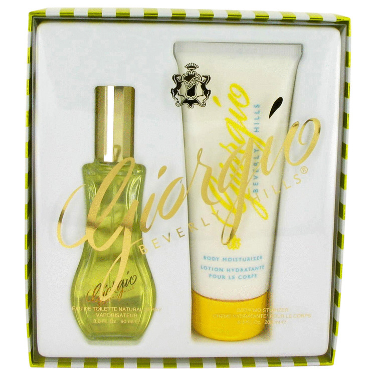 GIORGIO by Giorgio Beverly Hills Gift Set -- 3 oz Eau De Toilette Spray + 6.8 oz Body Lotion for Women