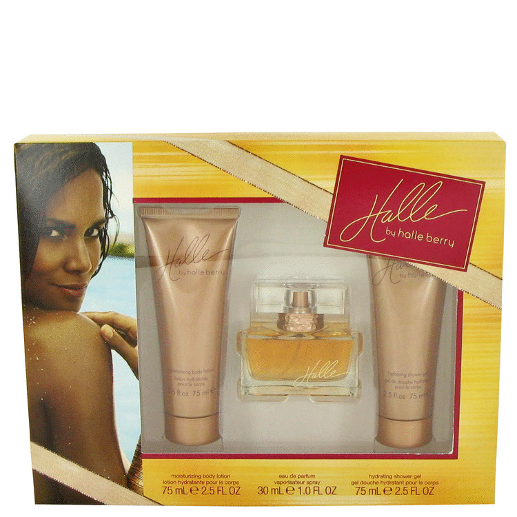 Halle by Halle Berry Gift Set -- 1 oz Eau De Parfum + 2.5 oz Body Lotion + 2.5 oz Shower Gel for Women