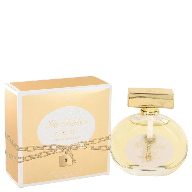 Her Golden Secret by Antonio Banderas 2.7 oz Eau De Toilette Spray for Women