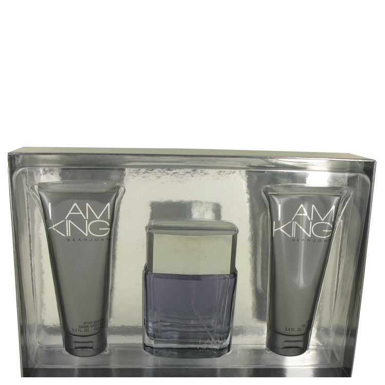 I Am King by Sean John Gift Set -- 3.4 oz Eau De Toilette Spray + 3.4 oz After Shave Balm + 3.4 oz Shower Gel for Men