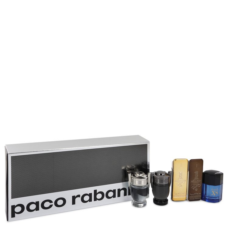 Invictus by Paco Rabanne Travel Mini Set Includes 1 Million, 1 Million Prive, Invictus, Invictus Intense and Pure XS for Men