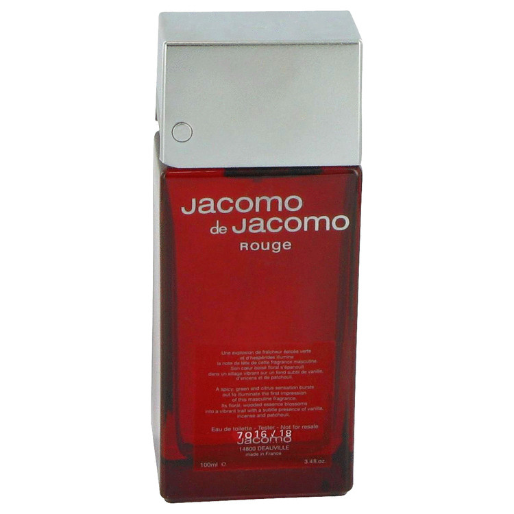 Jacomo De Jacomo Rouge by Jacomo 3.4 oz Eau De Toilette Spray for Men