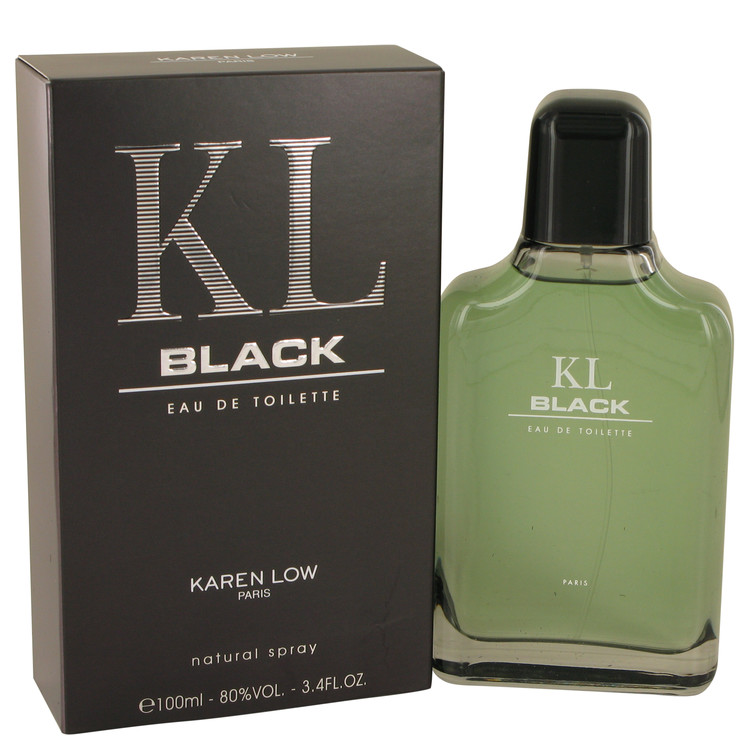 Kl Black by Karen Low 3.4 oz Eau De Toilette Spray for Men