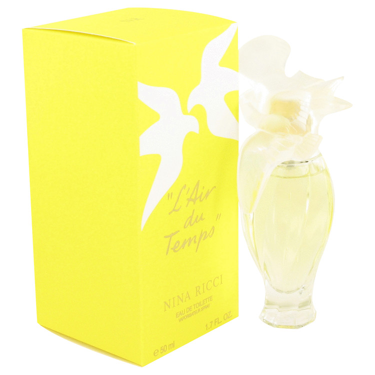 L'air Du Temps by Nina Ricci 1.7 oz Eau De Toilette Spray With Bird Cap for Women