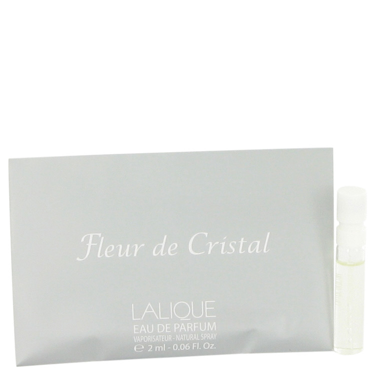 Lalique Fleur De Cristal by Lalique Vial (sample) .06 oz for Women