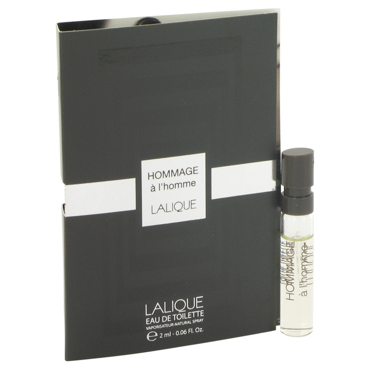 Lalique Hommage a L'Homme by Lalique Vial (sample) .06 oz for Men