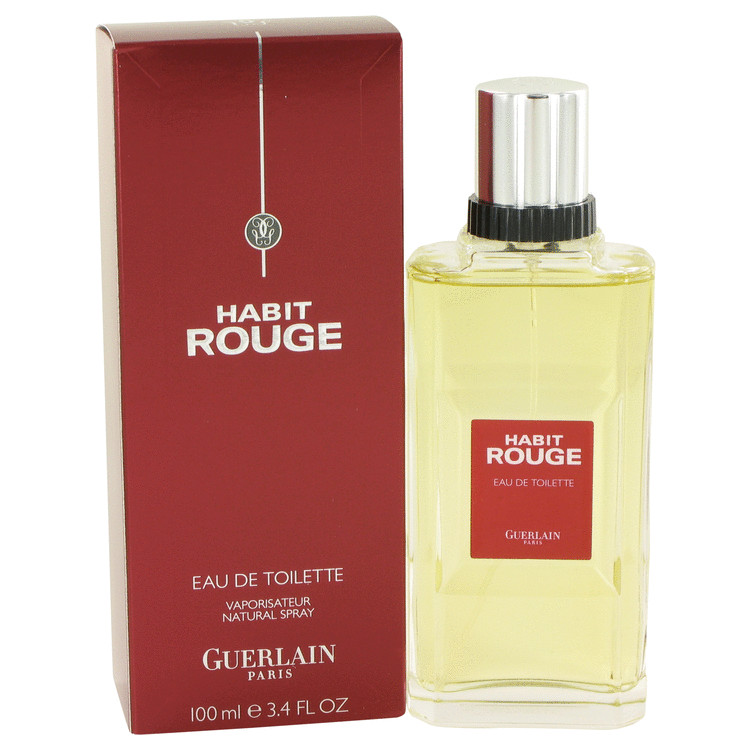 Habit Rouge by Guerlain 3.4 oz Cologne / Eau De Toilette Spray for Men