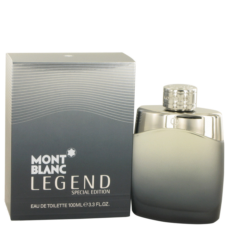 MontBlanc Legend by Mont Blanc Eau De Toilette Spray (Special Edition-Grey Box) 3.3 oz for Men