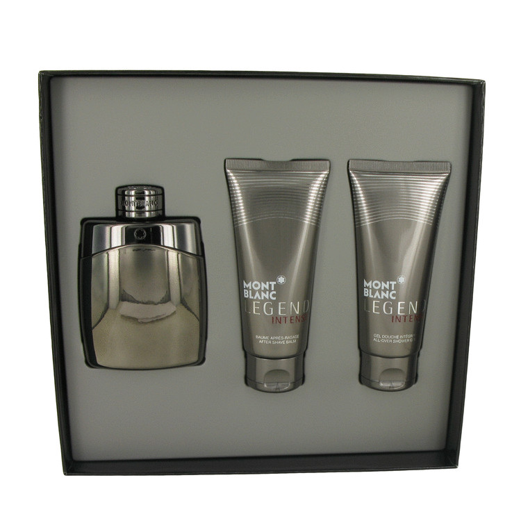 Montblanc Legend Intense by Mont Blanc Gift Set -- 3.3 oz Eau De Toilette Spray + 3.3 oz After Shave Balm + 3.3 oz Shower Gel for Men