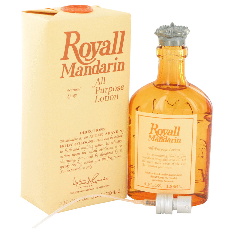 Royall Mandarin by Royall Fragrances 4 oz All Purpose Lotion / Cologne for Men