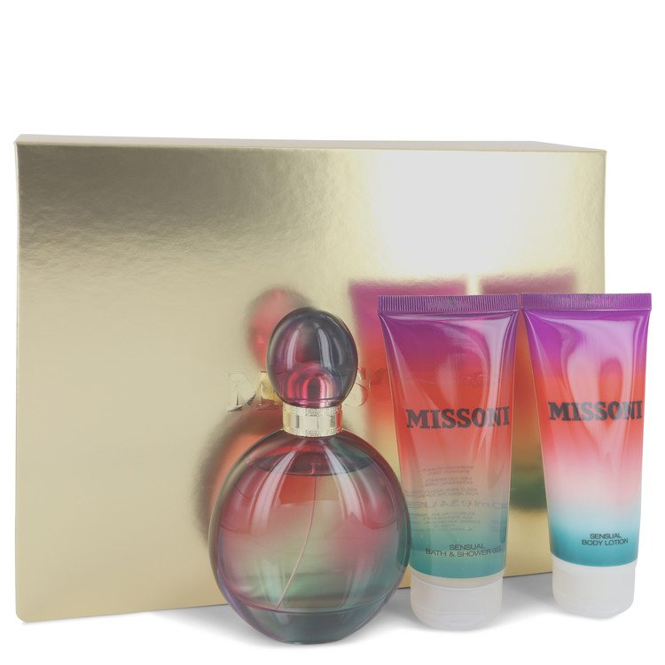 Missoni by Missoni 3.4 oz Eau De Parfum Spray + 3.4 oz Body Lotion + 3.4 oz Shower Gel for Women