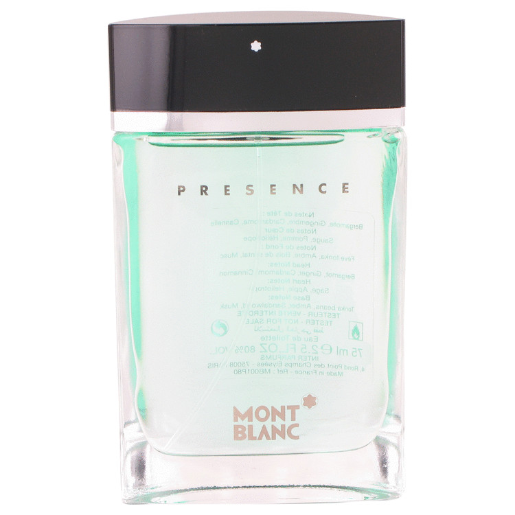 Presence by Mont Blanc 2.5 oz Eau De Toilette Spray for Men