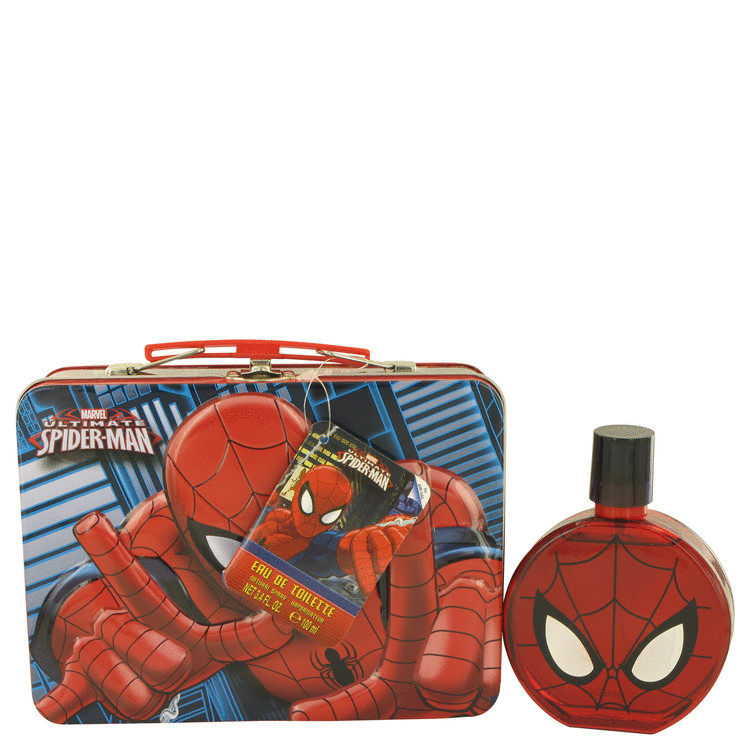 Spiderman by Marvel Eau De Toilette Spray with Free Lunch Box 3.4 oz for Men