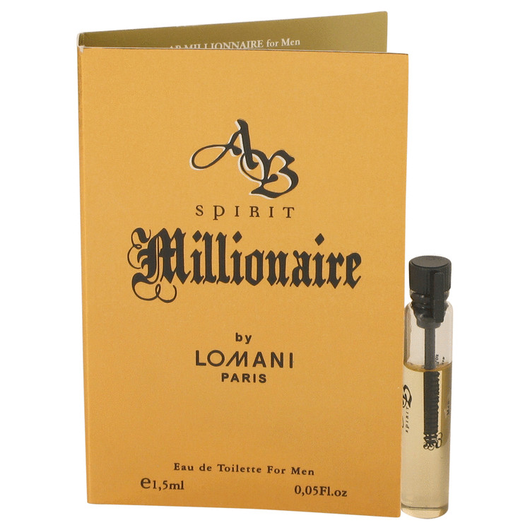 Spirit Millionaire by Lomani Vial (sample) .05 oz for Men