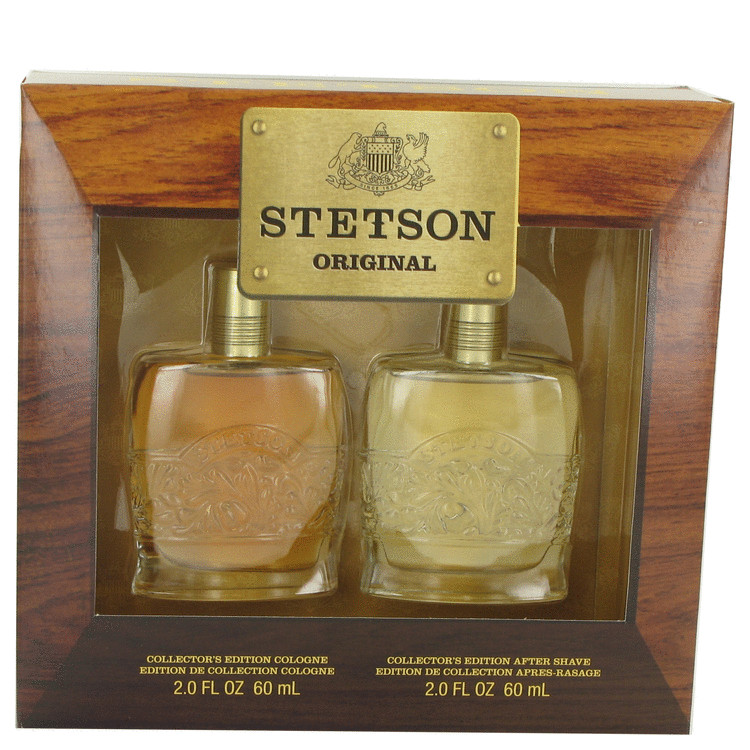 STETSON by Coty Gift Set -- 2 oz Cologne  + 2 oz After Shave for Men