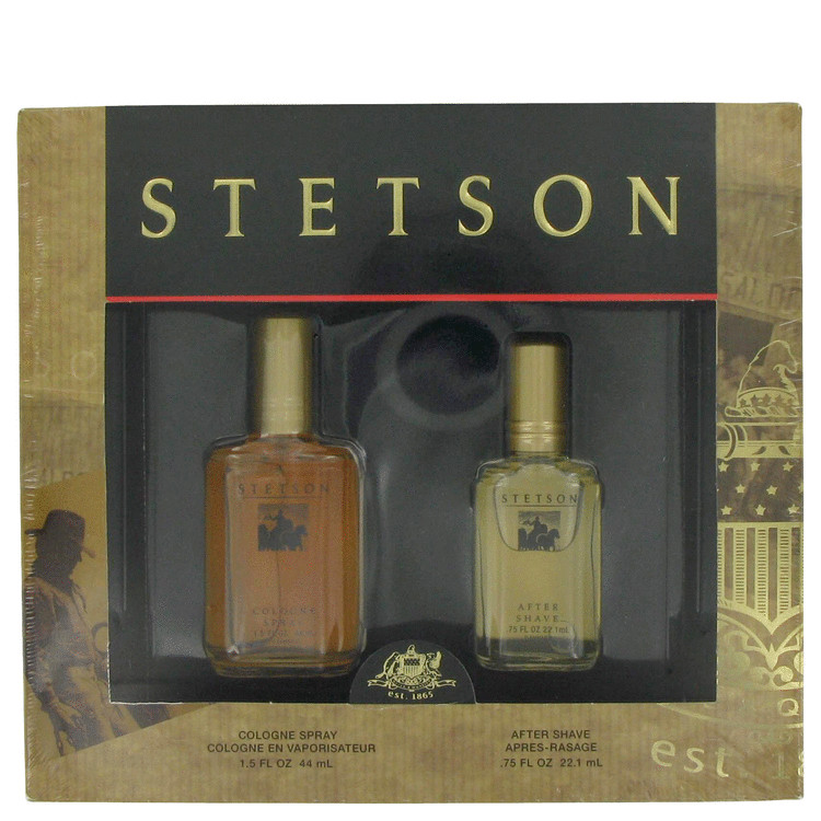 STETSON by Coty Gift Set -- 1.5 oz Cologne + .75 oz After Shave for Men