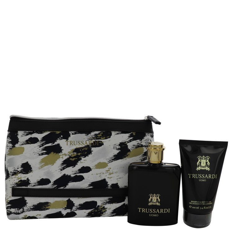 Trussardi by Trussardi 3.4 oz Eau De Toilette Spray + 3.4 oz Shower Gel + Trusssardi Pouch for Men