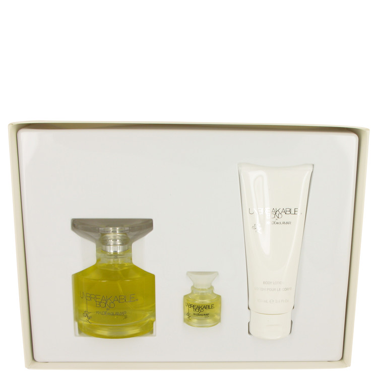 Unbreakable Bond by Khloe and Lamar Gift Set -- 3.4 oz Eau De Toilette Spray + .25 oz Mini EDT Spray ++ 3.4 oz Body Lotion for Women