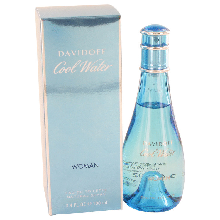 Cool Water by Davidoff 3.4 oz Eau De Toilette Spray for Women