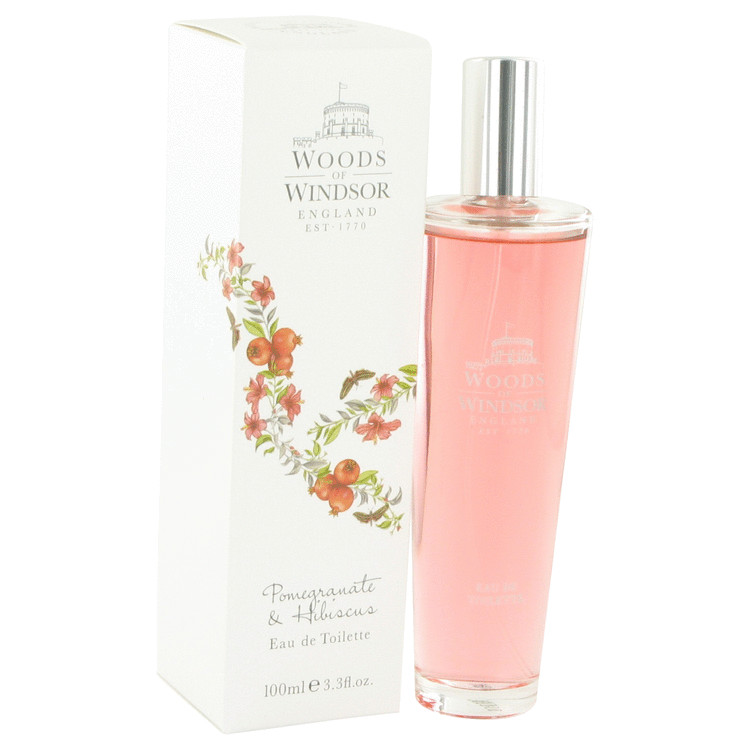 Pomegranate & Hibiscus by Woods of Windsor 3.4 oz Eau De Toilette Spray for Women