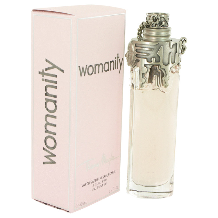 womanity by thierry mugler eau de parfum refillable spray 2 7 oz for women. Black Bedroom Furniture Sets. Home Design Ideas
