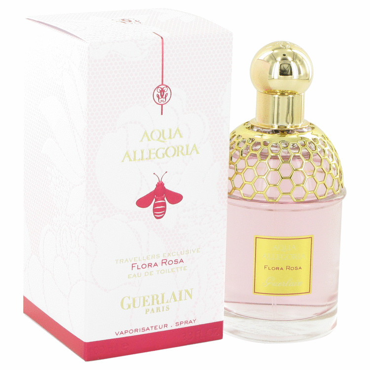 Aqua Allegoria Flora Rosa by Guerlain Eau De Toilette Spray 3.3 oz for Women