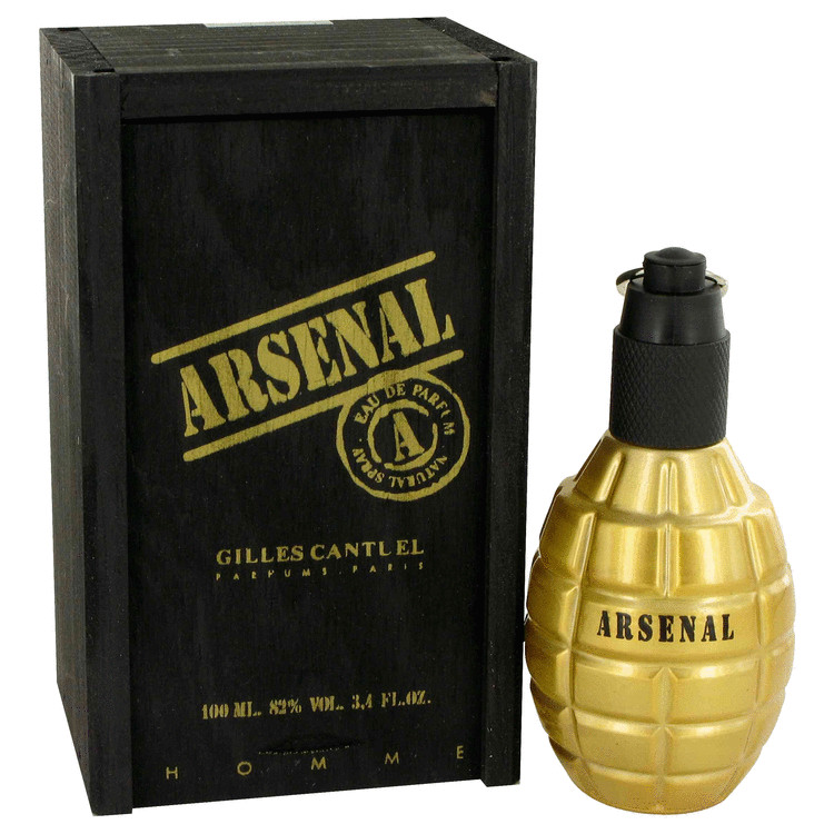 Arsenal Gold by Gilles Cantuel Eau De Parfum Spray 3.4 oz for Men