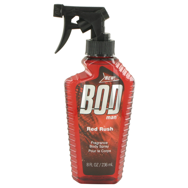 Bod Man Red Rush by Parfums De Coeur Body Spray 8 oz for Men