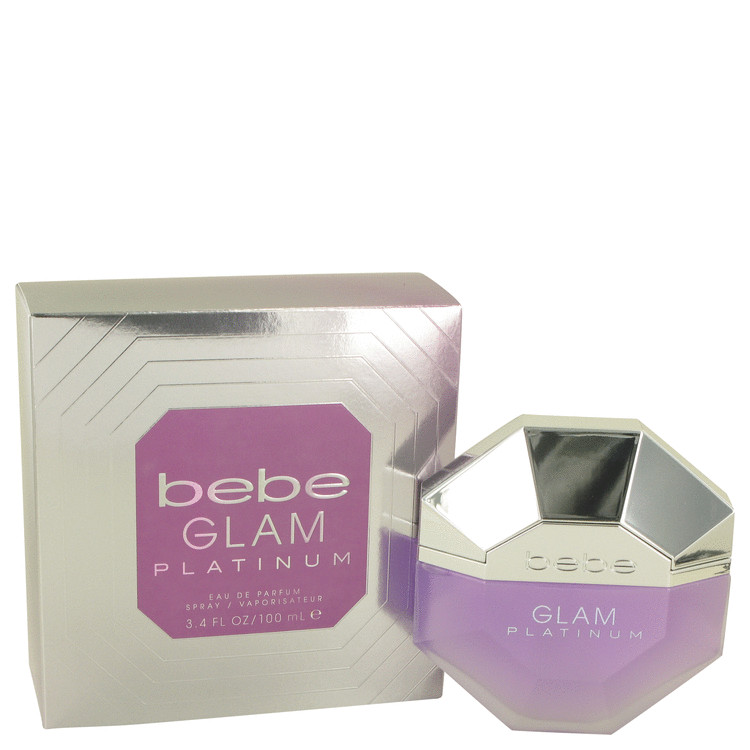 Bebe Glam Platinum by Bebe Eau De Parfum Spray 3.4 oz for Women