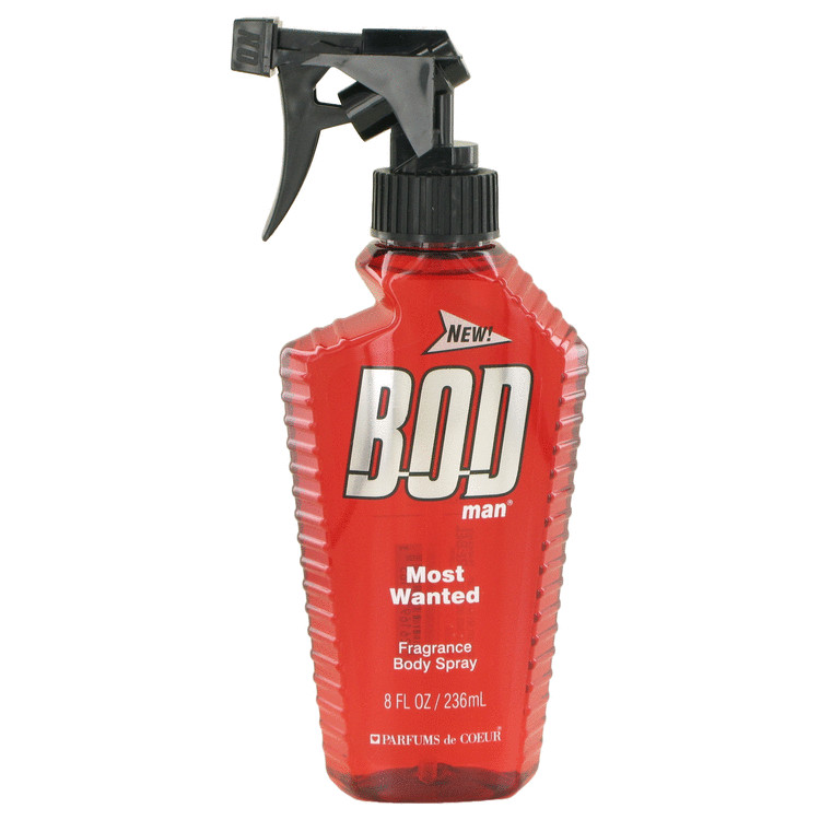 Bod Man Most Wanted by Parfums De Coeur Fragrance Body Spray 8 oz for Men