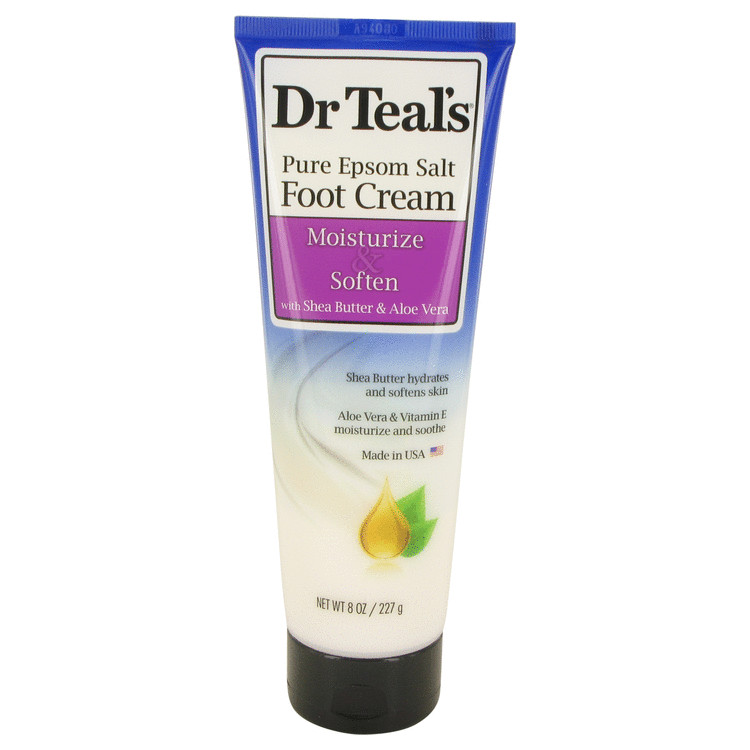 Dr Teal's Pure Epsom Salt Foot Cream by Dr Teal's Pure Epsom Salt Foot Cream with Shea Butter & Aloe Vera & Vitamin E 8 oz for Women