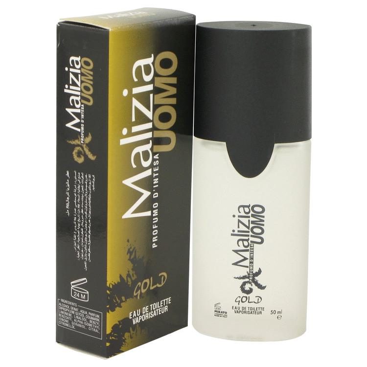 Malizia Uomo Gold by Vetyver Eau De Toilette Spray 1.7 oz for Men