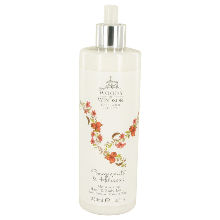 Pomegranate & Hibiscus by Woods of Windsor Hand & Body Lotion 11.8 oz for Women