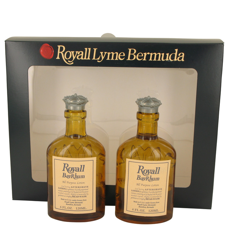 Royall Bay Rhum by Royall Fragrances Gift Set -- Two 4 oz All Purpose Lotion / Cologne Splash Includes 2 Spray Pumps for Men