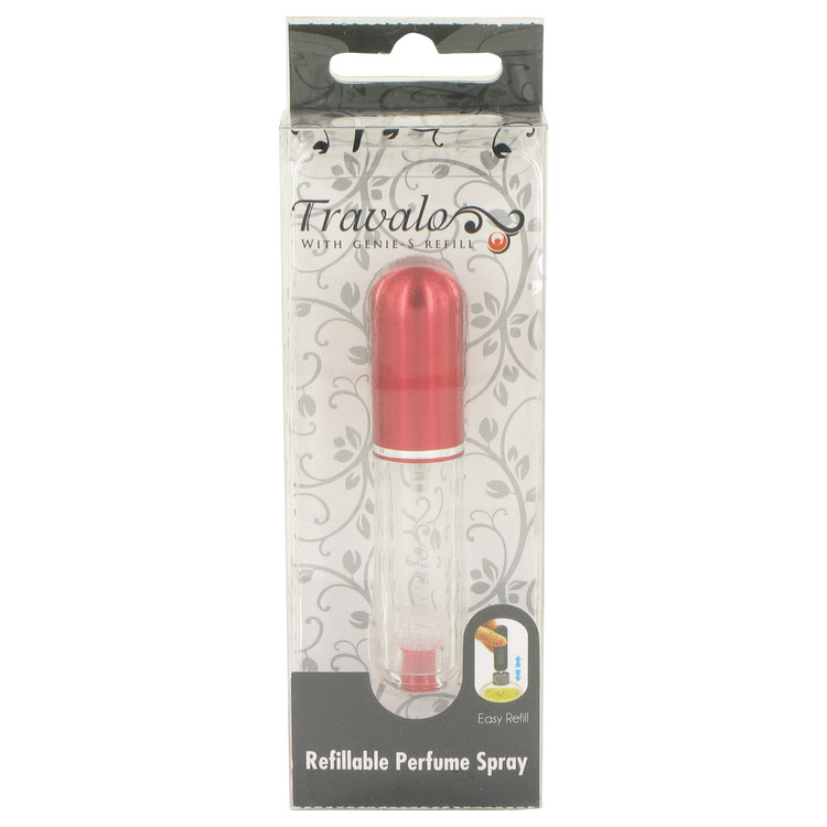Travalo Travel Spray by Travalo Mini Travel Refillable Spray with Cap Refills from Any Fragrance Bottle (Red) .135 oz for Women