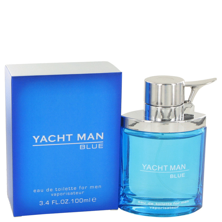 Yacht Man Blue by Myrurgia Eau De Toilette Spray 3.4 oz for Men