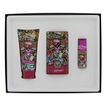 Love & Luck by Christian Audigier Gift Set -- 1.7 oz Eau De Toilette Spray + 3 oz Hair & Body Wash + .25 oz Mini EDT for Men