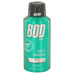 Bod Man Fresh Guy by Parfums De Coeur 4 oz Body Spray for Men